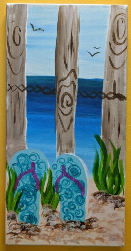 Flip Flops Required Canvas Painting Class