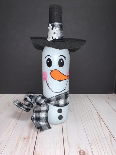 Snowman Wine Bottle Craft Class!