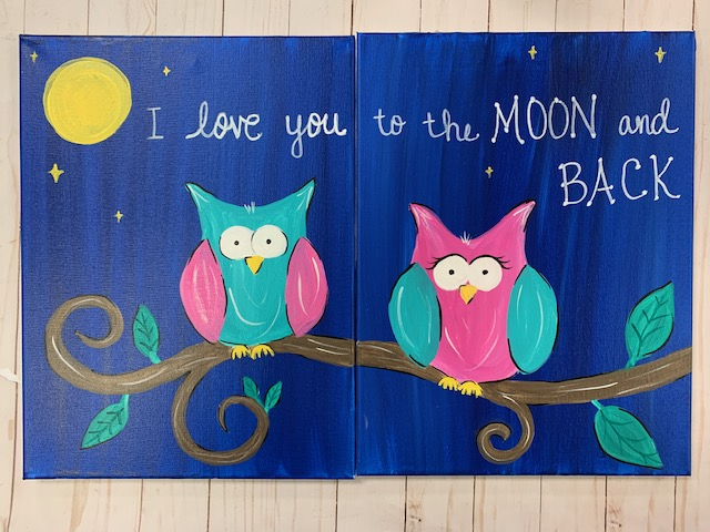 Owl Mommy & Me Canvas