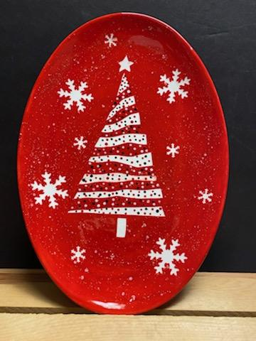 Dotted Christmas Tree Platter VIRTUAL Class <br>