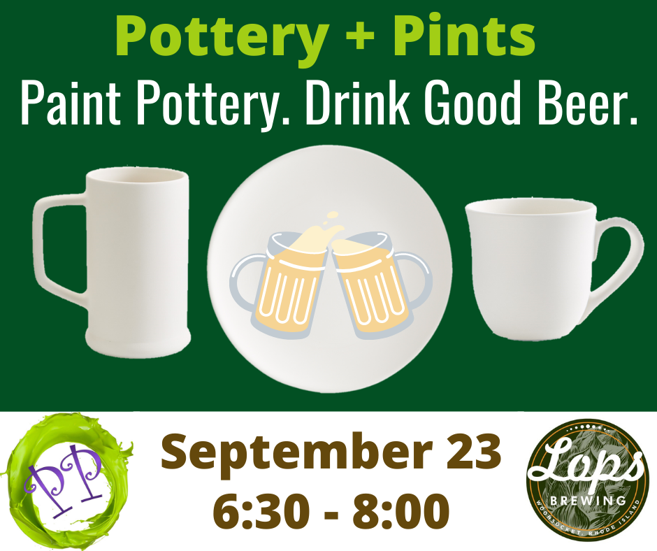 Pottery + Pints at Lops Brewing!